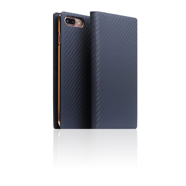 D+ Italian Carbon Leather Case for iPhone 8 Plus / 7 Plus Navy