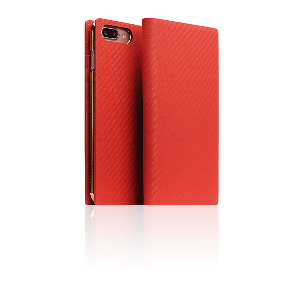superior quality a31f0 7ca4f D+ Italian Carbon Leather Case for iPhone 8 Plus / 7 Plus Red