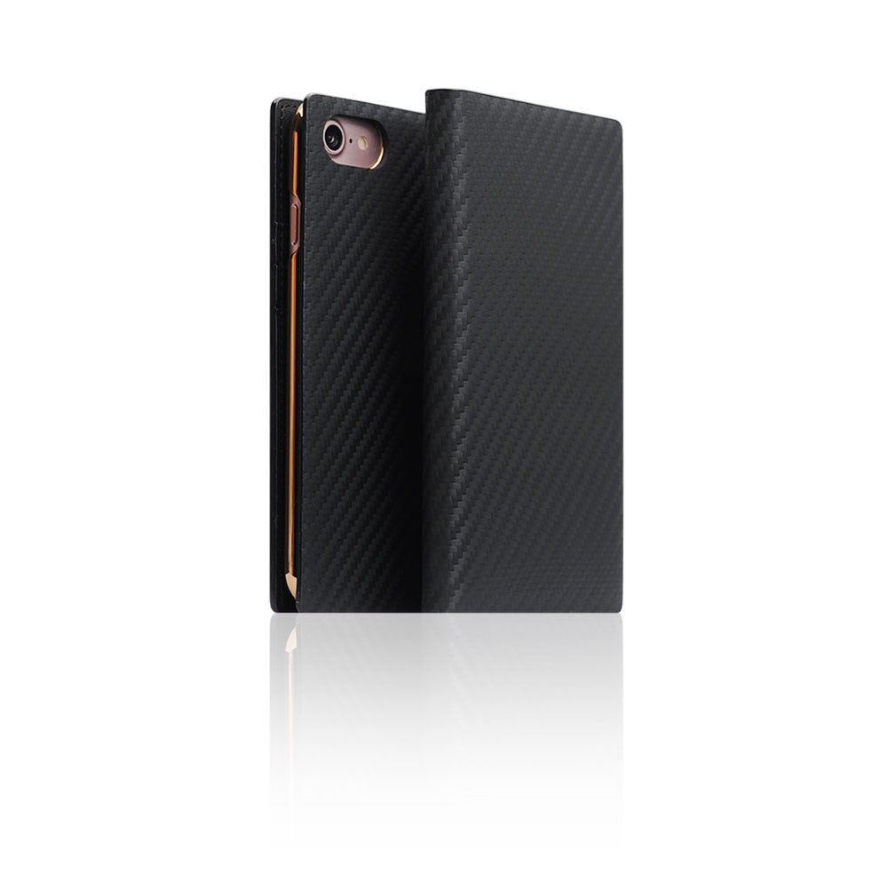 D+ Italian Carbon Leather Case for iPhone 8 / 7 Black