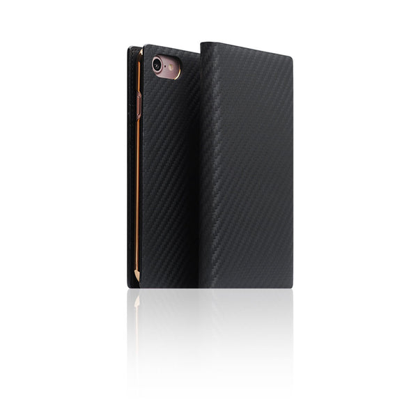D+ Italian Carbon Leather Case for iPhone 7 Black