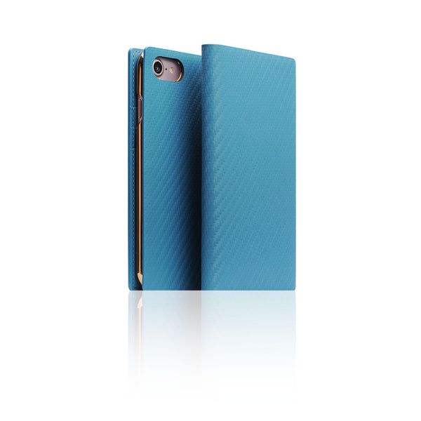 D+ Italian Carbon Leather Case for iPhone 7 Blue