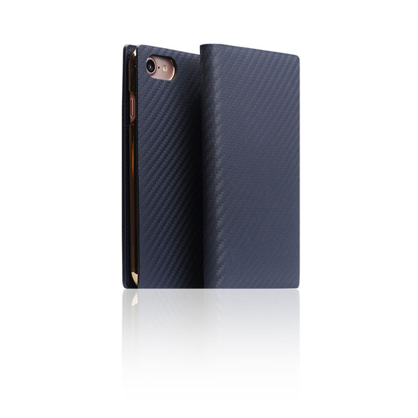 D+ Italian Carbon Leather Case for iPhone 8 / 7 Navy