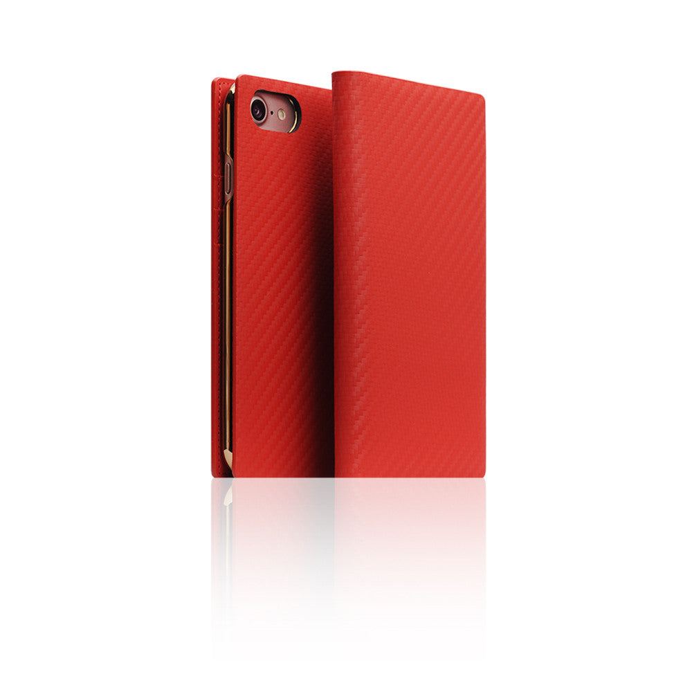 D+ Italian Carbon Leather Case for iPhone 8 / 7 Red
