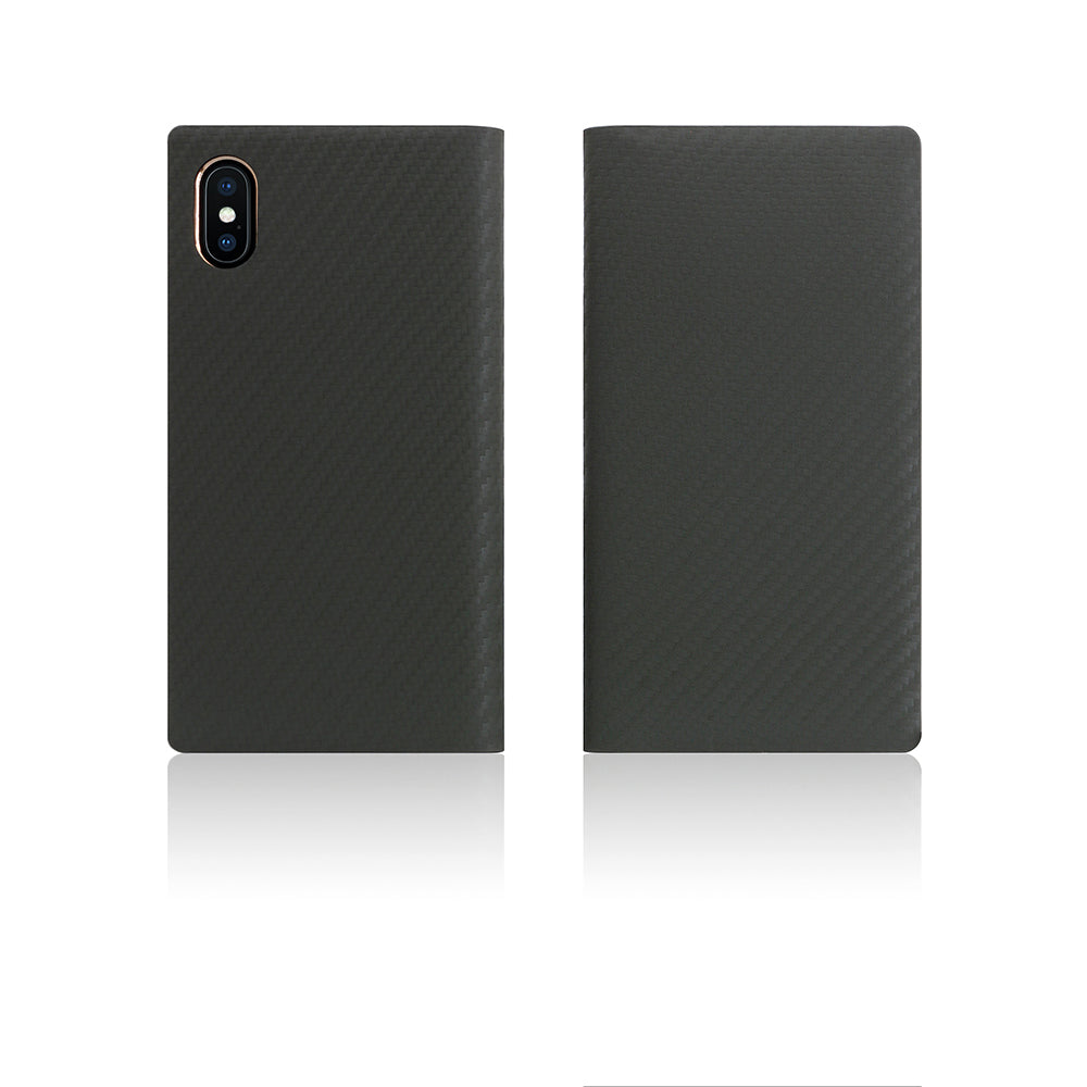D+ Italian Carbon Leather Case for iPhone X / XS Khaki