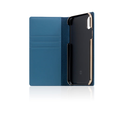 D+ Italian Carbon Leather Case for iPhone X Blue