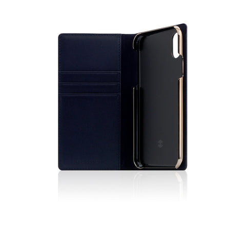 D+ Italian Carbon Leather Case for iPhone X Navy
