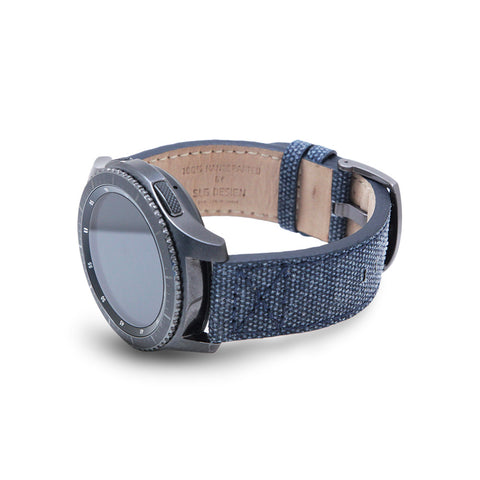 D+ Wax Canvas Strap for Gear S3 Navy