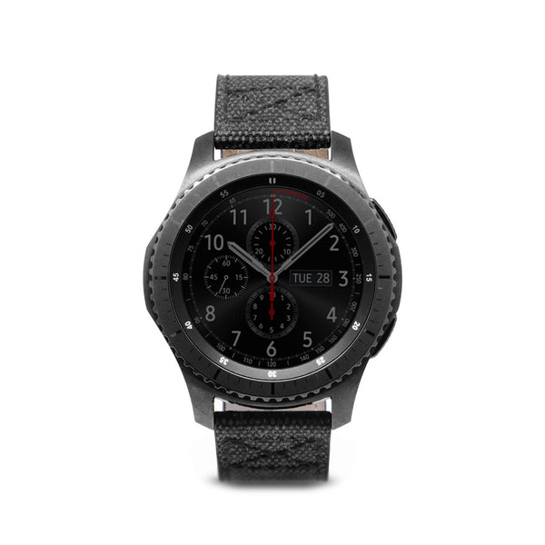 D+ Wax Canvas Strap for Gear S3 Black