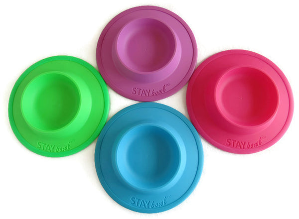NEW! - STAYbowl® NO-SLIP/NO-TIP Food and Water Bowl for Cats (3/4 CUP SIZE) - www.MyStayBowl.com