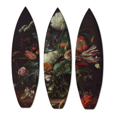 FLOWERS TRIPTYCH / 3 SURFBOARDS