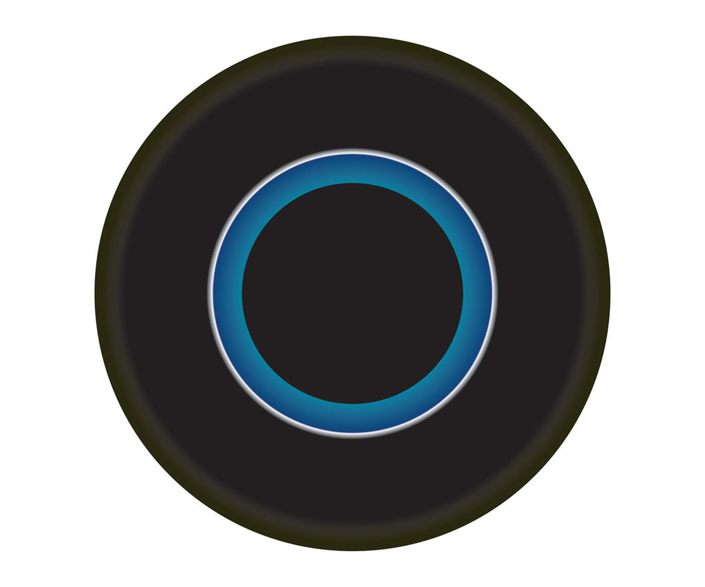 BLACK AND BLUE CIRCLE