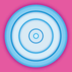 BLUE CIRCLE ON FUCHSIA