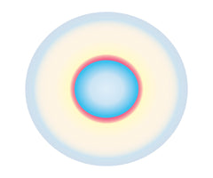 BLUE TO LIGHT BLUE CIRCLE