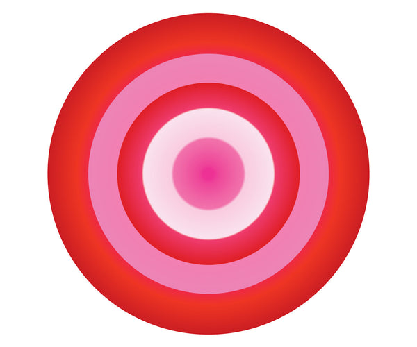 RED AND PINK CIRCLE