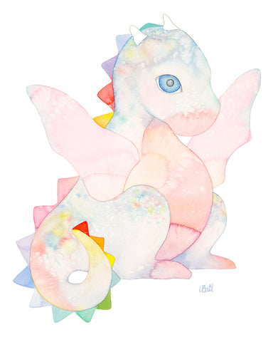 DAISY THE DRAGON-ORIGINAL WATERCOLOR