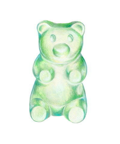 GUMMY BEAR GREEN-TEAL