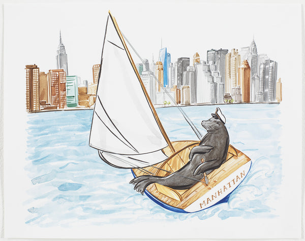 SEAL SAILING TO NEW YORK