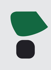 UNTITLED (GREEN AND BLACK ON LIGHT GREY)