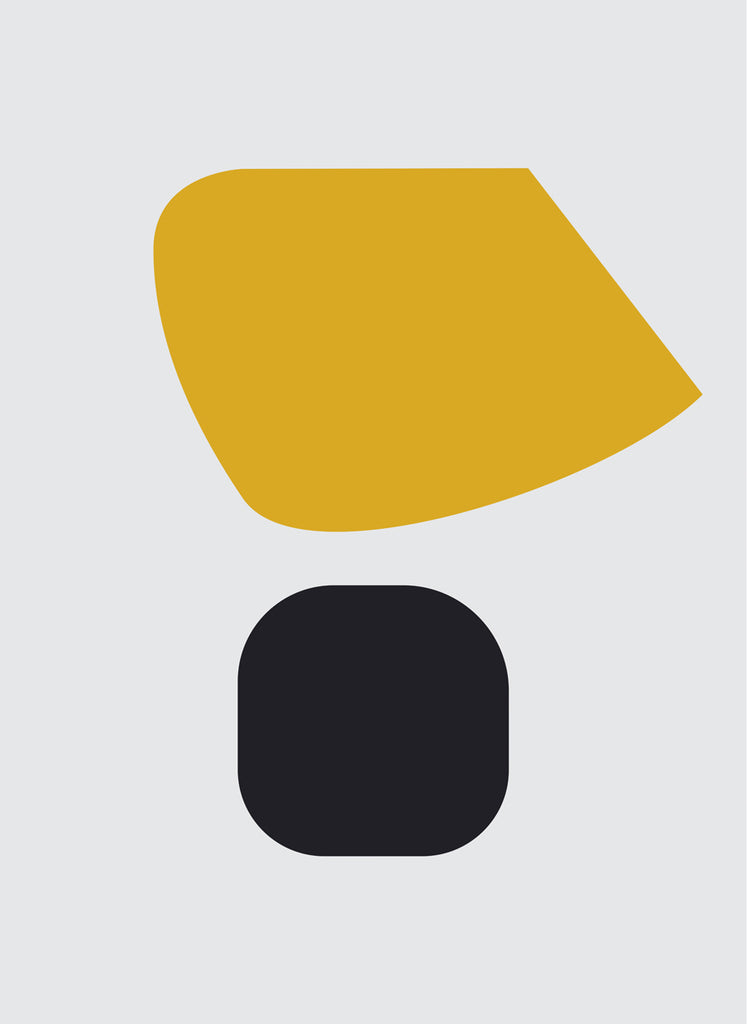 UNTITLED (OCHRE AND BLACK ON LIGHT GREY)