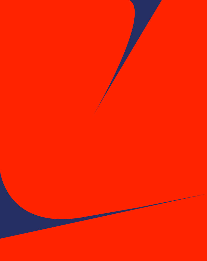 UNTITLED (RED ON BLUE 1)
