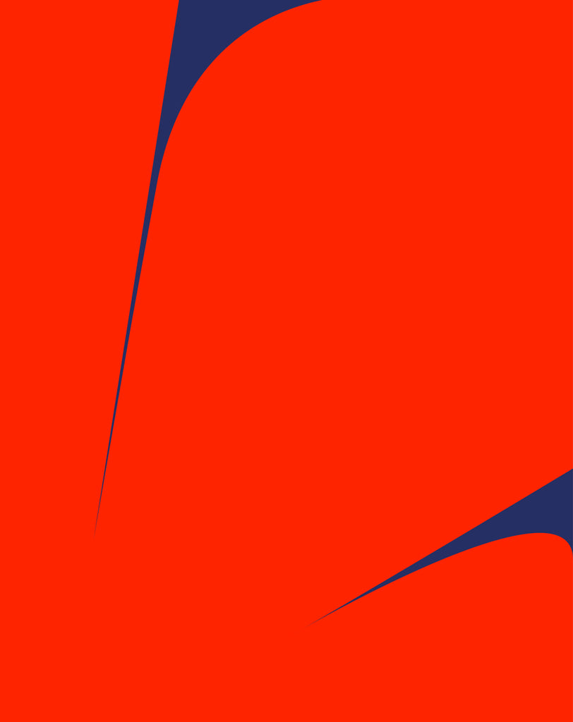 UNTITLED (RED ON BLUE 2)
