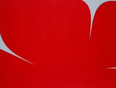 UNTITLED (RED ON GREY)