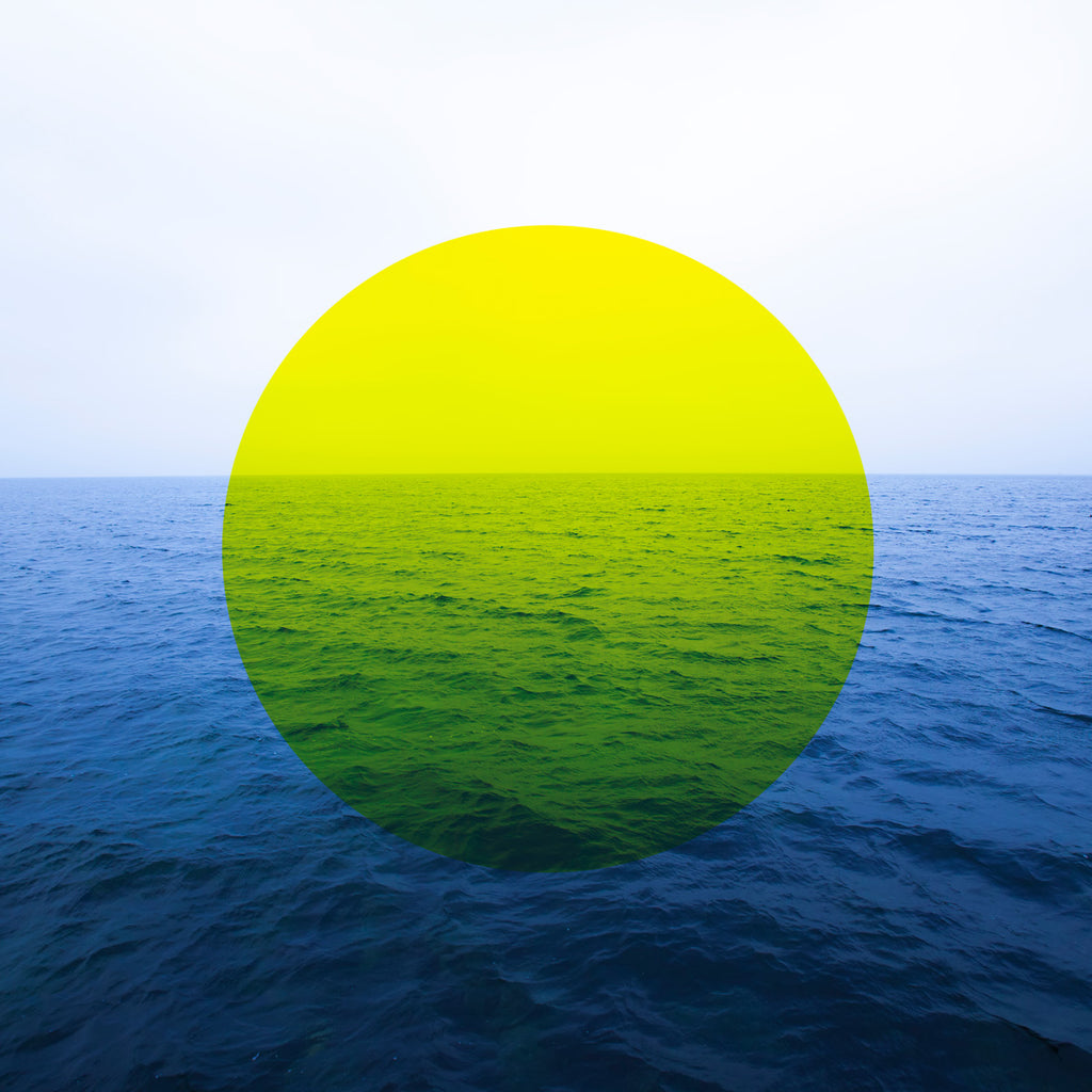 YELLOW CIRCLE AND SEA