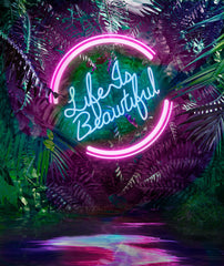 DISCO IN THE JUNGLE - LIFE IS BEAUTIFUL WITH PINK CIRCLE