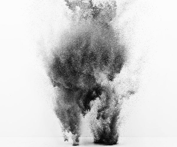 EXPLODING POWDER MOVEMENT: BLACK & WHITE