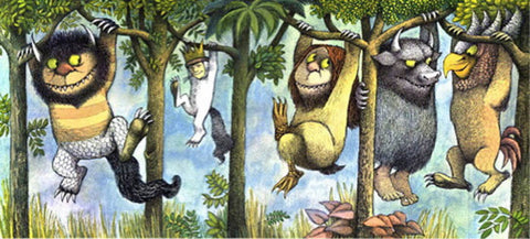 VINTAGE, LIMITED EDITION PRINT OF WILD THINGS VINE BY MAURICE SENDAK