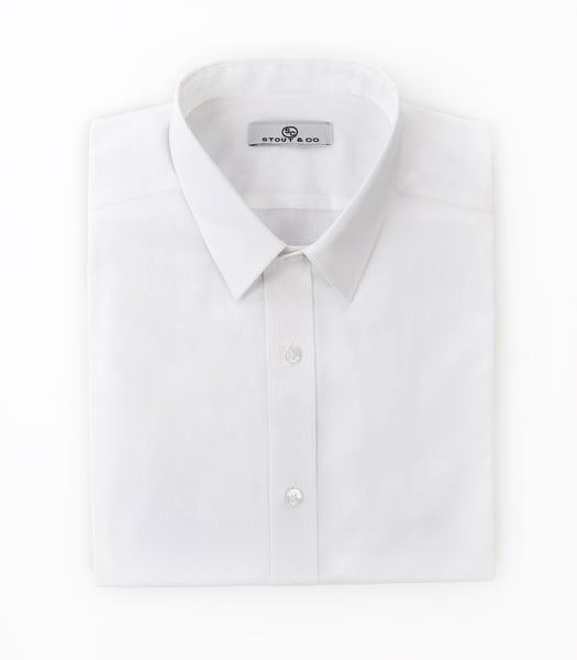 Stout&Co. Heritage White Classic Button Up Dress Shirt