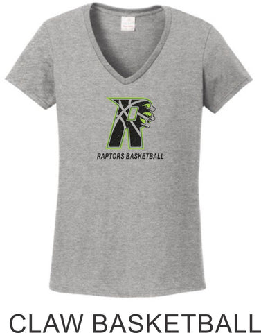 Raptors Ladies Tee- 2 Designs- 4 Sports- Matte or Glitter