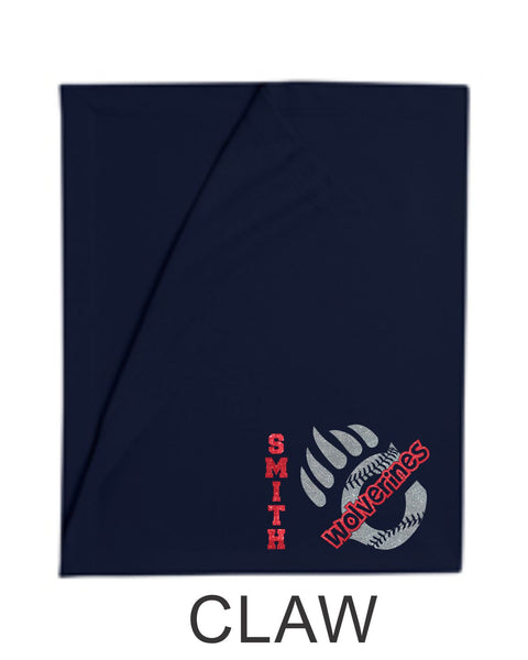 Chap Baseball Blanket in 3 Designs- Matte or Glitter