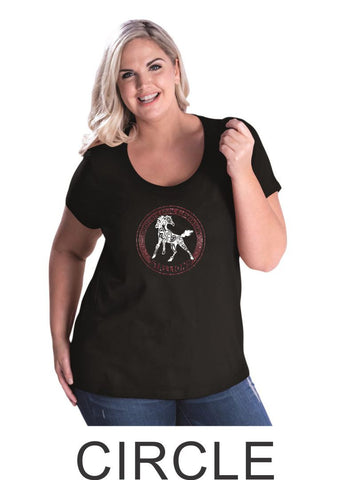 CTE Curvy Ladies Tee- 4 designs- Matte or Glitter