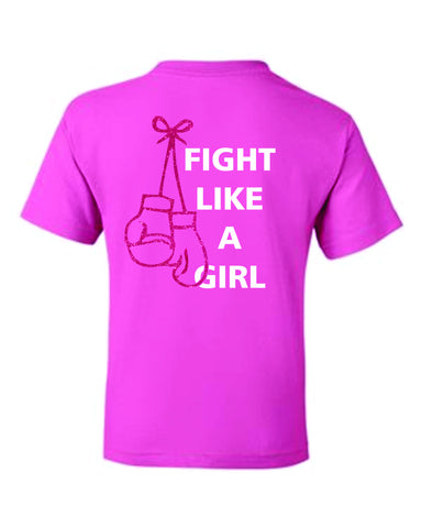 Red Ribbon Fight Tee- Matte or Glitter