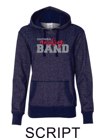 Chap Band Ladies Sparkle Fabric French Terry Hoodie- 3 designs