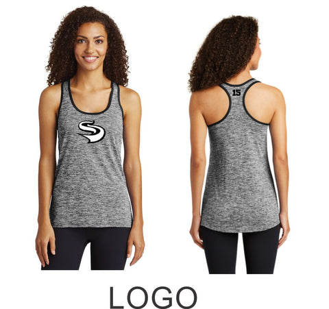 Slammers Wicking Heather Tank- 2 Designs- Matte or Glitter