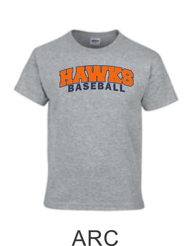 Hawks Baseball Basic Tee- 4 Designs