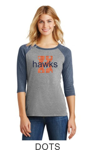 Hawks Ladies Raglan- Matte or Glitter