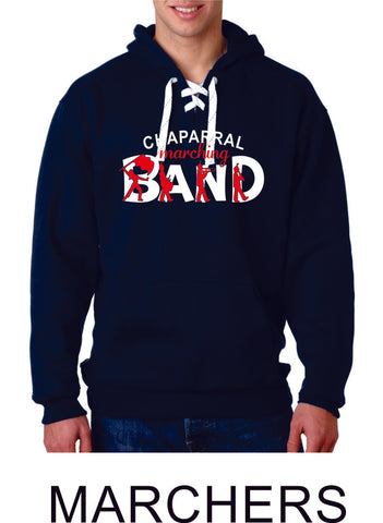 Chap Band Sport Lace Hoodie - 2 Designs - Matte or Glitter