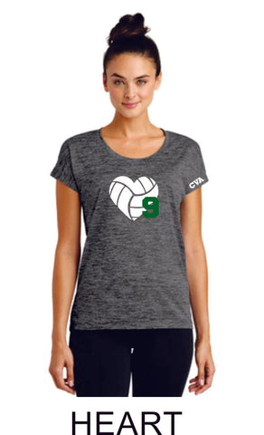 CVA Ladies Sport-Tek Heathered Tee - 3 designs
