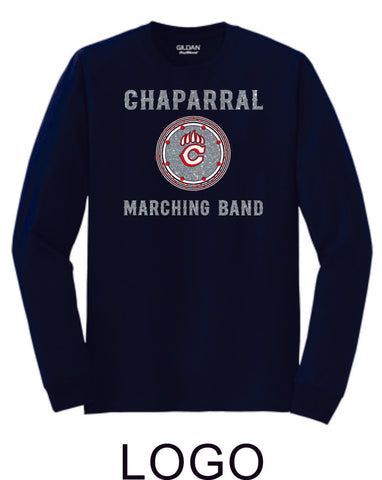 Chap Band Long Sleeve Tee - Logo Design -Matte or Glitter