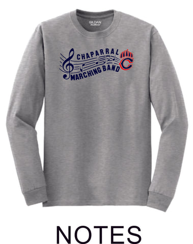 Chap Band Long Sleeve Tee - 3 designs-Matte or Glitter