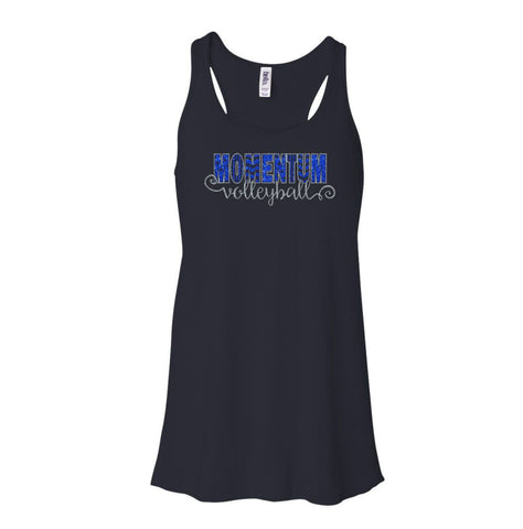 Momentum Volleyball Flowy Swirly Tank- Matte or Glitter