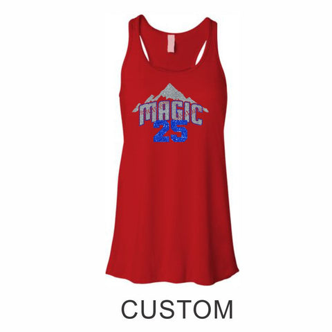 Magic Flowy Tank- 3 designs- Matte or Glitter