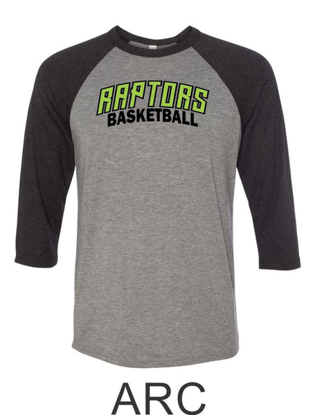 Raptors Basketball Raglan Unisex T-Shirt- 5 designs- Matte and Glitter