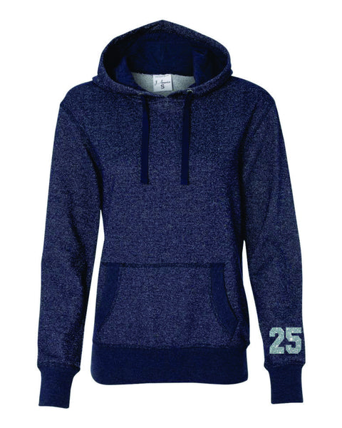 Hawks Ladies Sparkle Fabric French Terry Hoodie- 2 designs