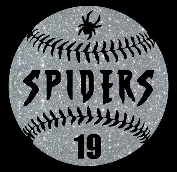 Spiders Baseball Custom Decal~ Matte or Glitter