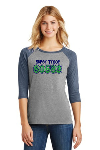 Troop Glitter Raglan Tee