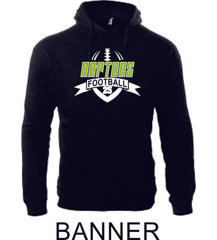 Raptors Football Adult Unisex Premium Hoodie- 5 designs- Matte or Glitter